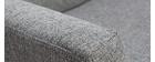 Fauteuil scandinave gris et bois MARY