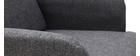 Fauteuil scandinave gris foncé et bois ISKO