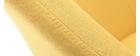 Fauteuil scandinave jaune et bois foncé MONA
