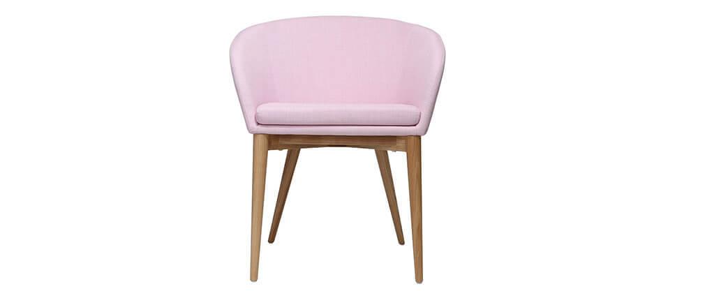 fauteuil scandinave rose et bois dalia miliboo. Black Bedroom Furniture Sets. Home Design Ideas