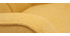 Fauteuil scandinave tissu effet velours jaune moutarde AVERY