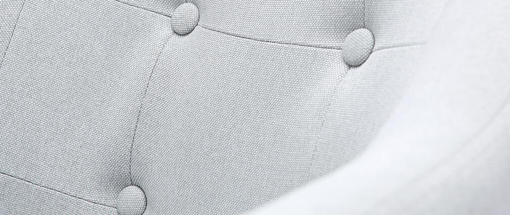 Fauteuil scandinave tissu gris clair et pieds bois (lot de 2) BALTIK