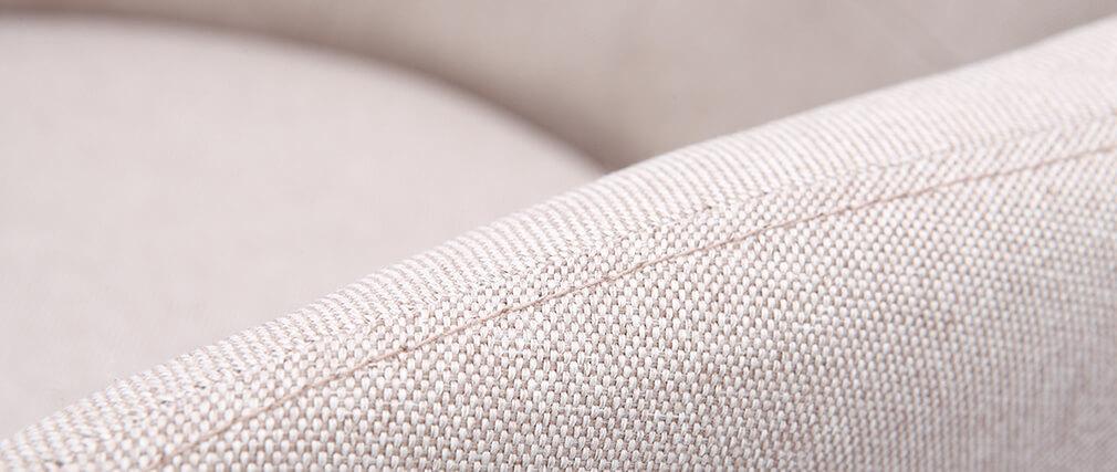Fauteuil scandinave tissu naturel et pieds bois (lot de 2) BALTIK