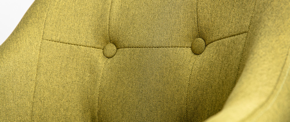 Fauteuil scandinave tissu vert et pieds bois (lot de 2) BALTIK