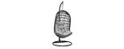 Fauteuil suspendu d'extérieur en corde grise et métal BAIA