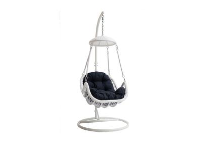 Chaise de jardin pour votre salon de jardin metal bleu fonce ...