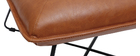 Fauteuil vintage marron avec repose pied PHILO
