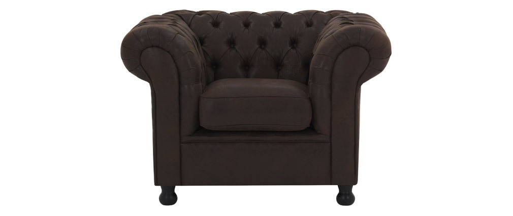 Fauteuil vintage marron CHESTERFIELD