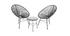 Fauteuils de jardin en fils de résine gris (lot de 2) BELLAVISTA