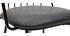 Fauteuils de table design en métal noir avec coussin (lot de 2) GRID