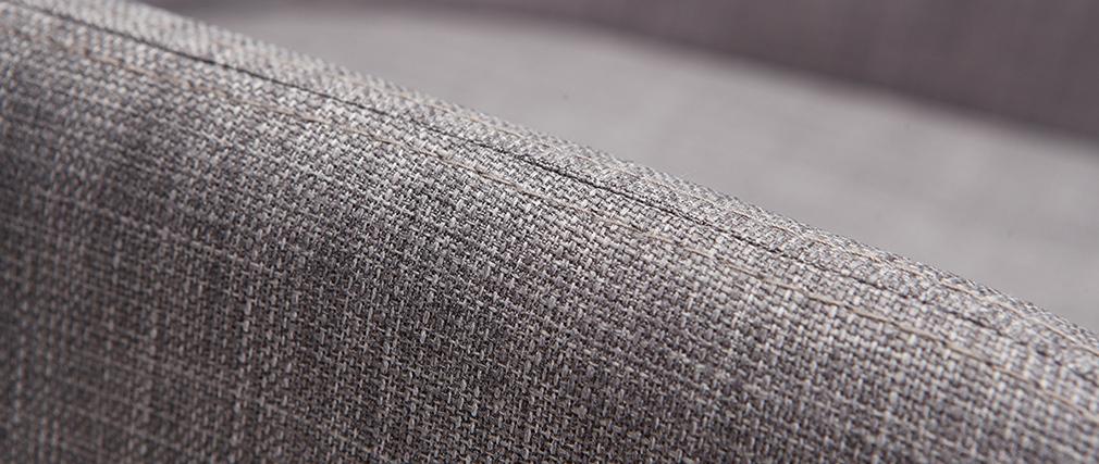 Fauteuils design bois et tissus gris clair (lot de 2) SHANA