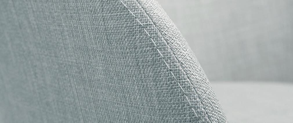 Fauteuils scandinaves gris clair et bois clair (lot de 2) DALIA