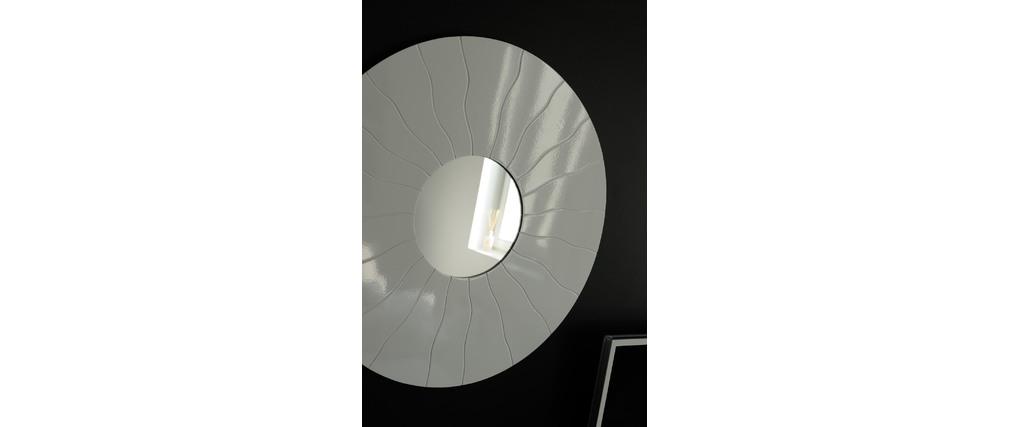 grand miroir mural design flanger i argent miliboo. Black Bedroom Furniture Sets. Home Design Ideas