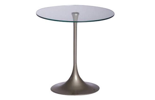 Gu ridon bout de canap moderne wiky en m tal et verre tremp miliboo - Table bout de canape en verre design ...
