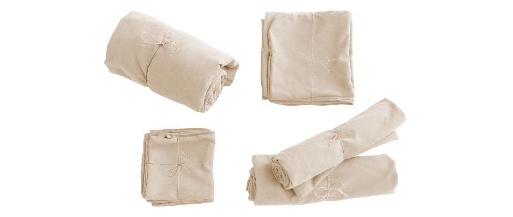 Housse de canapé en tissu écru FEVER HOUSSE