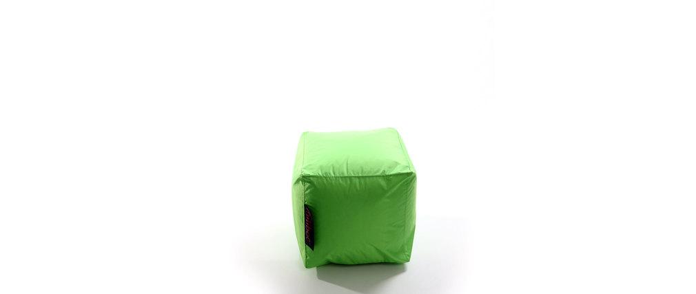 housse de pouf design carr vert anis cubag miliboo. Black Bedroom Furniture Sets. Home Design Ideas