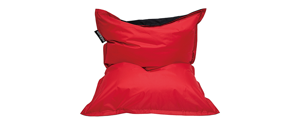 Housse de pouf géant bicolore noir et rouge BIG MILIBAG