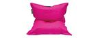 Housse de pouf géant bicolore rose et gris BIG MILIBAG