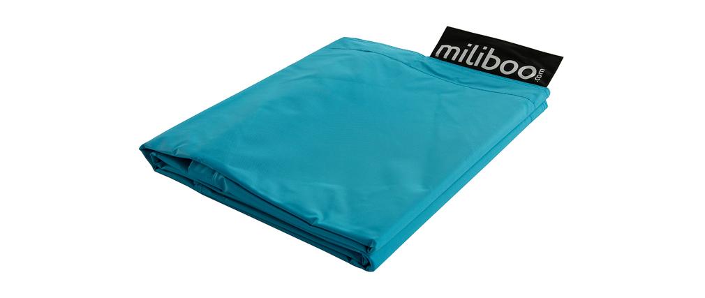 housse de pouf g ant bleu big milibag miliboo. Black Bedroom Furniture Sets. Home Design Ideas