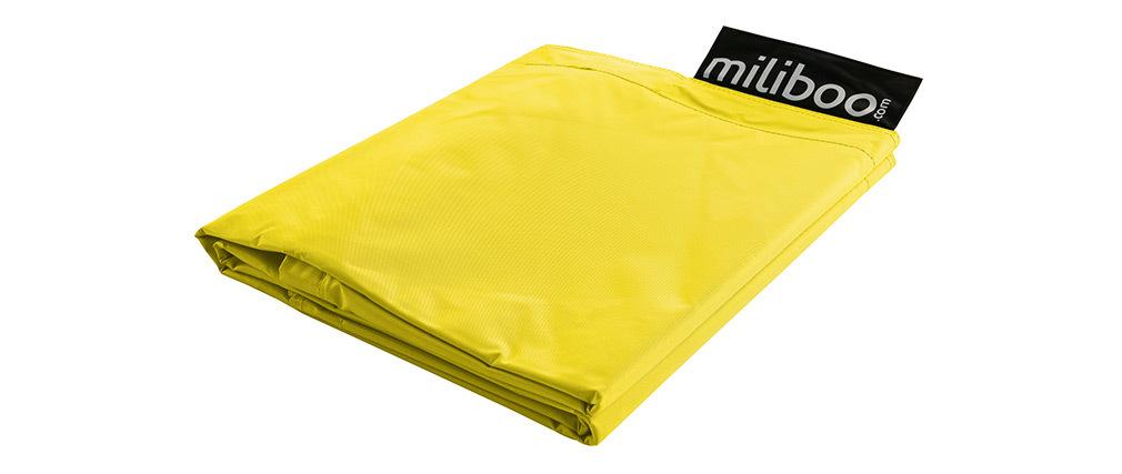 Housse de pouf géant jaune BIG MILIBAG