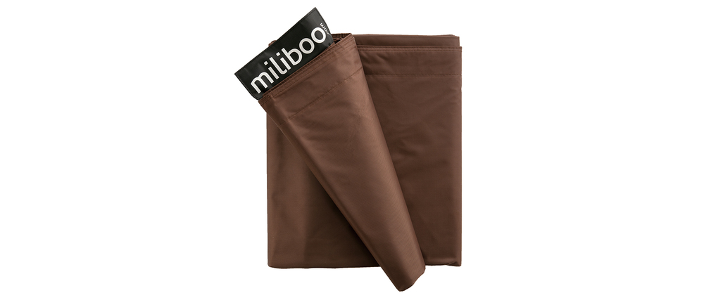 Housse de pouf géant marron BIG MILIBAG