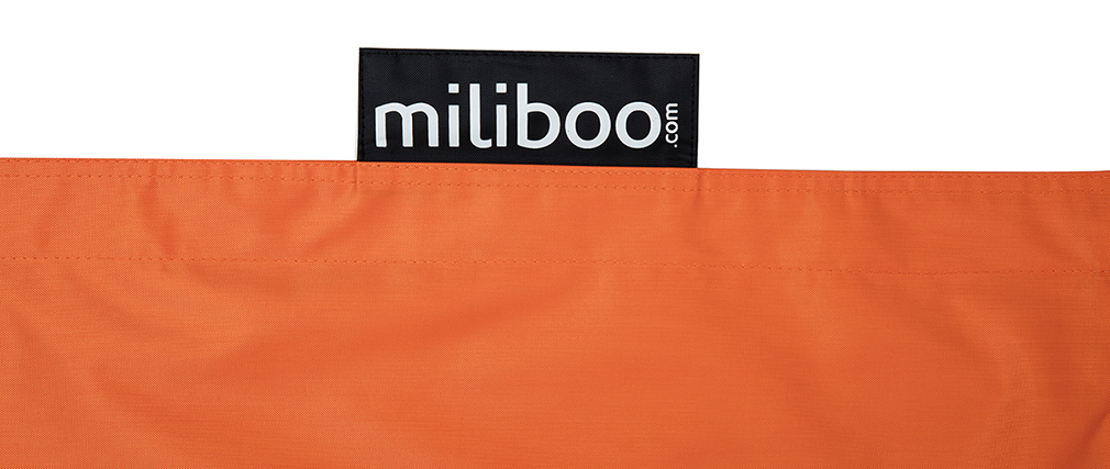 Housse de pouf géant orange BIG MILIBAG