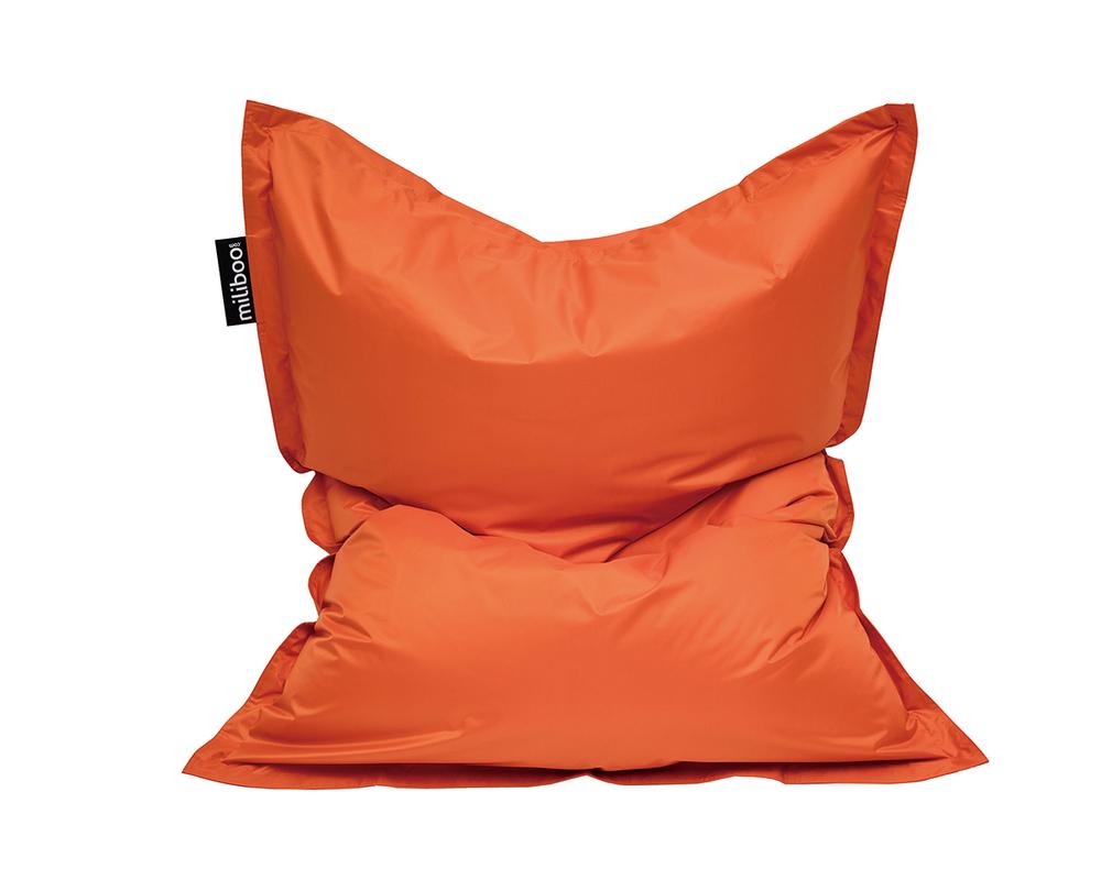 Housse de pouf géant orange BIG MILIBAG
