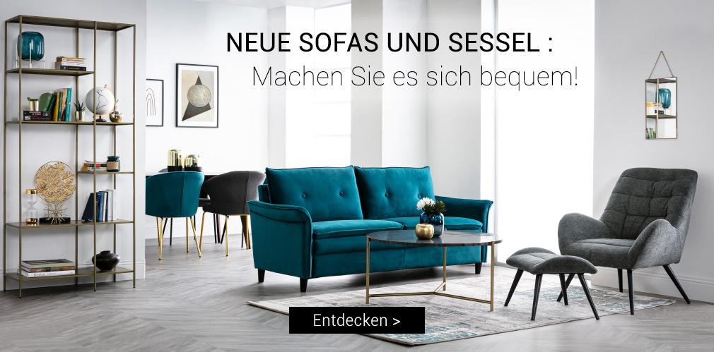 Neue Sofas und Sessel