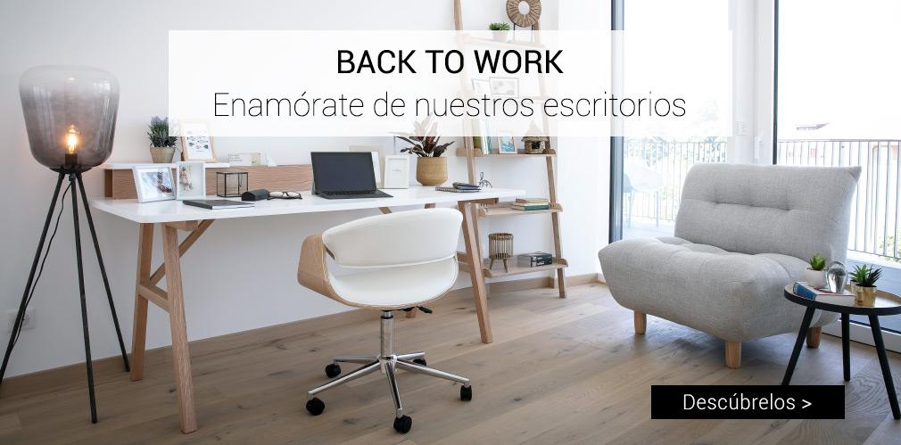 BACK TO WORK: Enamórate de nuestros escritorios