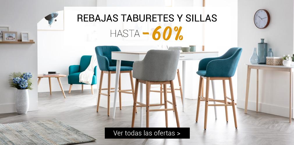 REBAJAS TABURETES Y SILLAS hasta -50%