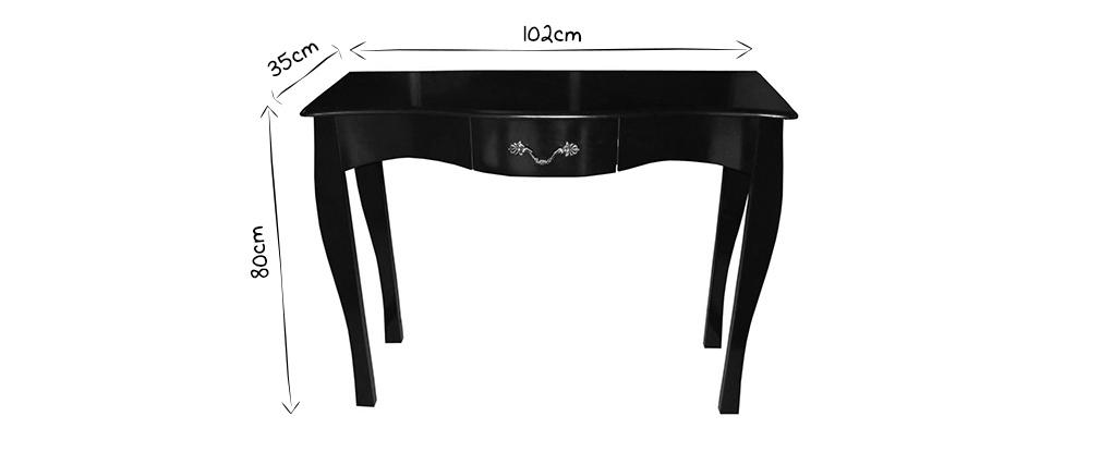 console baroque noire 1 tiroir 102 cm louisa miliboo. Black Bedroom Furniture Sets. Home Design Ideas
