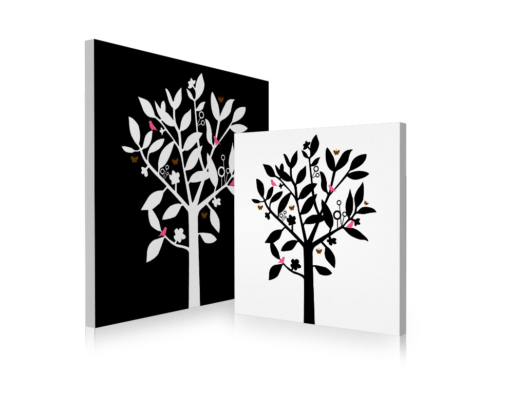 Tableau contemporain natura lot de 2 rien tel qu un design for Tableau design contemporain