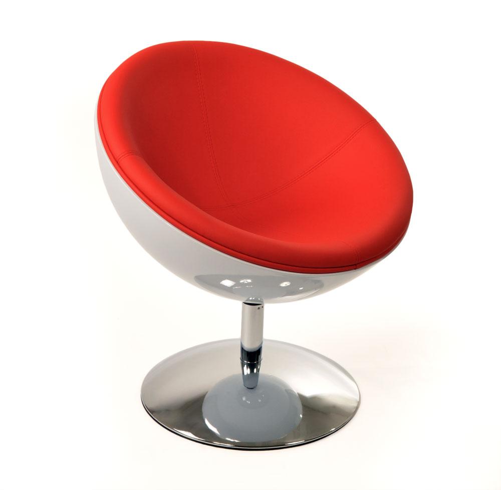 Design rtro blanc et rouge stanl ce fauteuil tres design blanc et