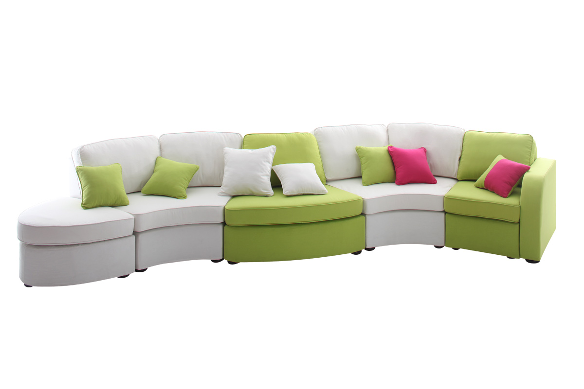Design polyester vert tous les objets de d coration sur for Canape vert anis