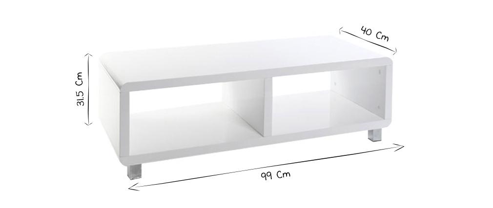 PIXY Glossy Black Modern TV Stand - Miliboo