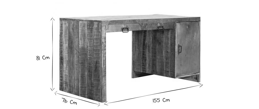 Bureau design loft miliboo - Meubles livres montes ...