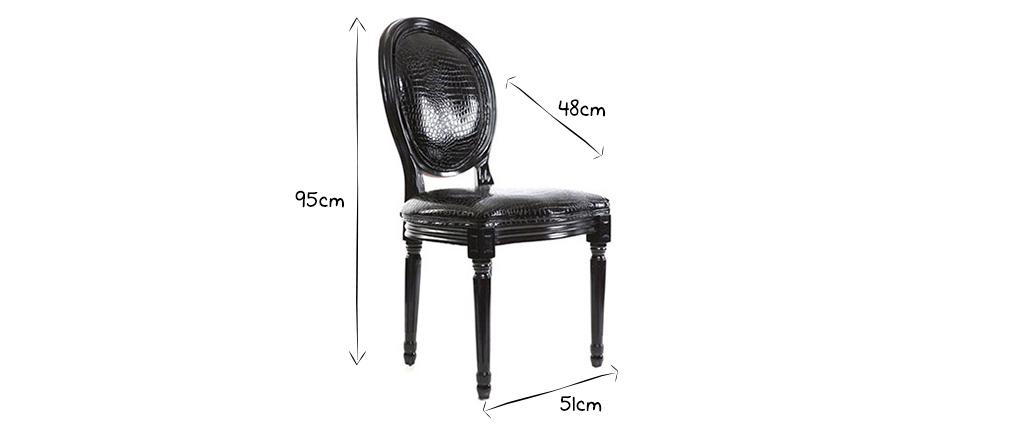 Lote de 2 sillas barrocas luis xvi blancas medaillon miliboo - Sillas luis xvi baratas ...