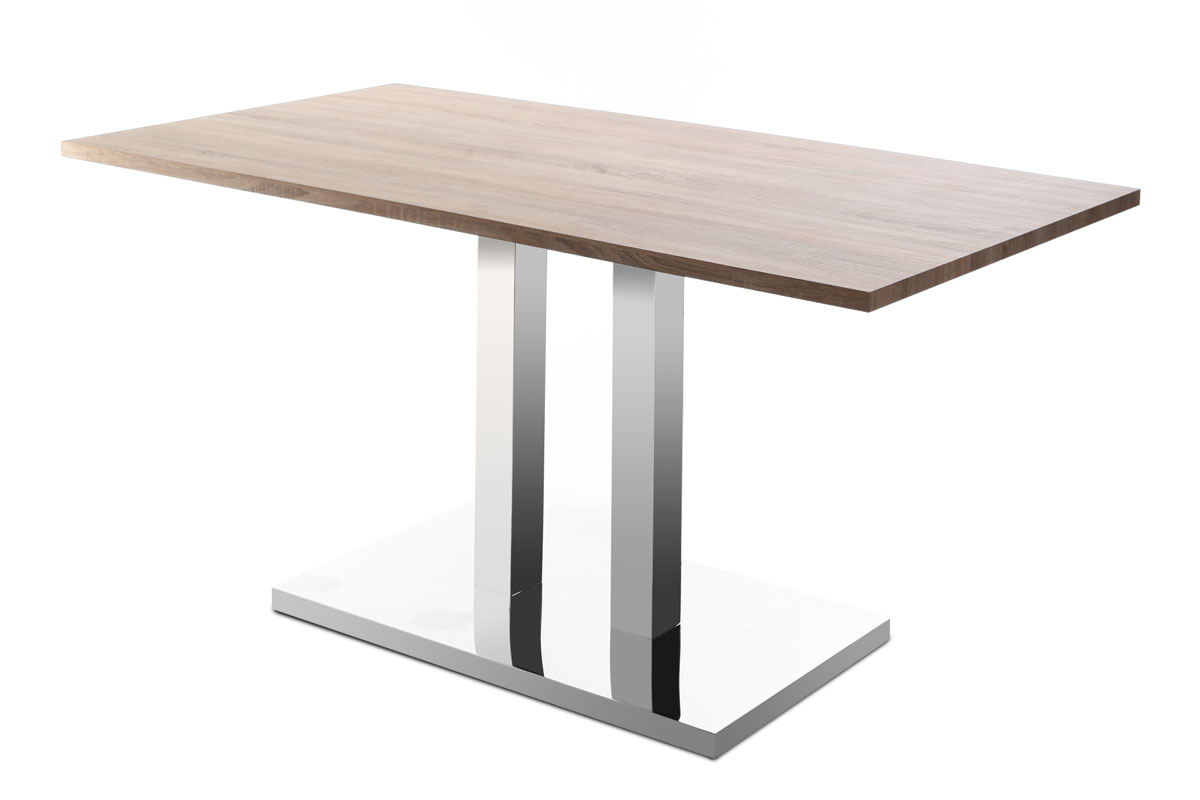 Table manger design 150x80 bois clair filia for Miroir 150x80