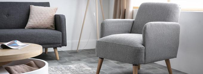 Rocking Chair et Fauteuil Design gris - Miliboo