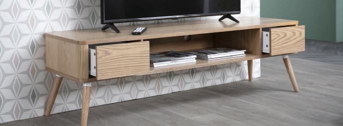 375b378610684 Le meuble TV design Miliboo est à découvrir sans plus attendre ! Et pour  les plus imaginatifs, découvrez aussi notre gamme d'ensembles muraux TV.
