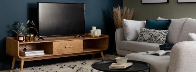 Meuble tv en bois avec ou sans rangement
