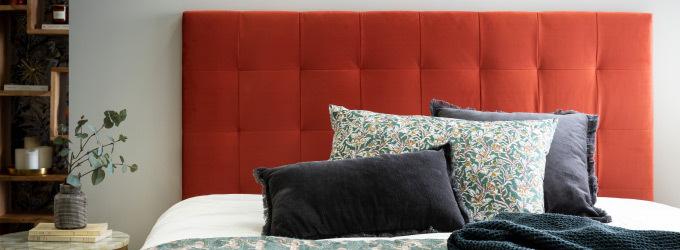 Tete de lit en tissu avec ou sans capiton