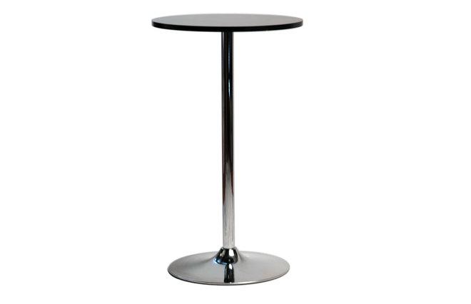 La table de bar james noir miliboo for Table de bar noir