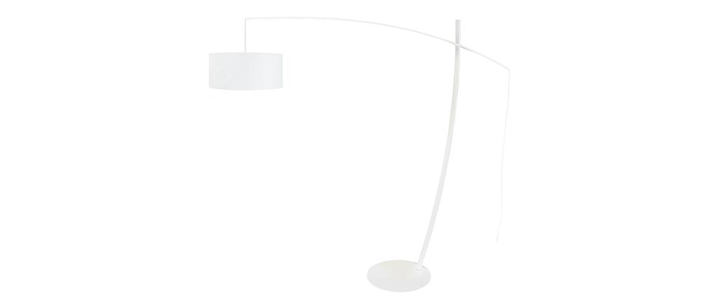 Lampadaire arc design acier blanc ESCAPE