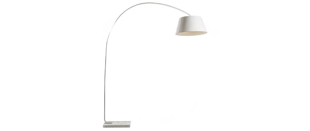 Lampadaire design avec socle en marbre LIS