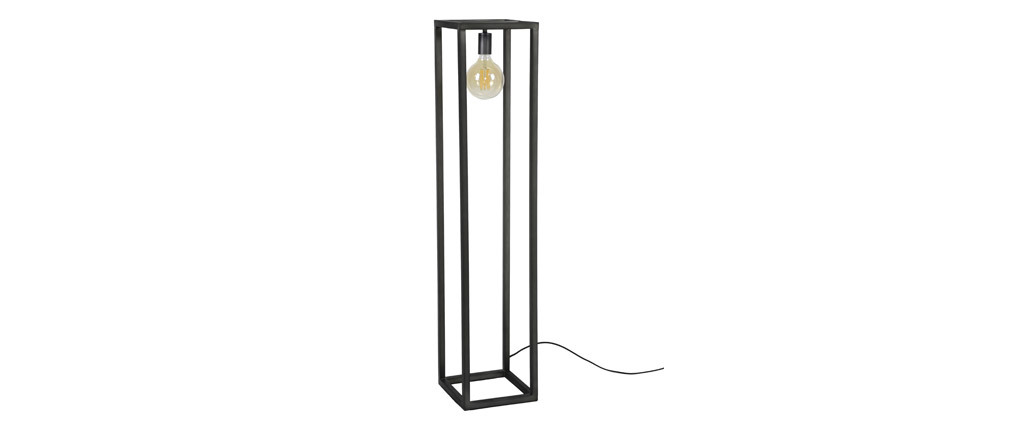 Lampadaire design en métal carré COLUMN