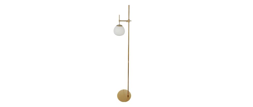 Lampadaire design métal doré AUREOL