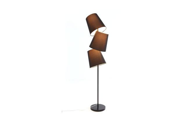 lampadaire design noir baya