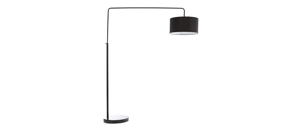 Lampadaire design noir TILLIA