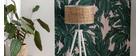 Lampadaire en jute et bois massif blanc JUTA